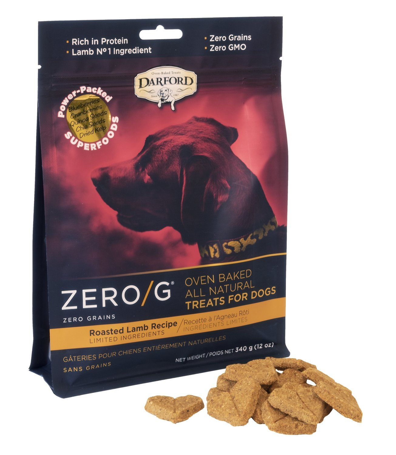 Zero/G Roasted Lamb Dog Treat (2 Sizes)
