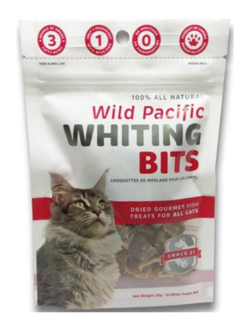 Wild Pacific Whiting Bits for Cats