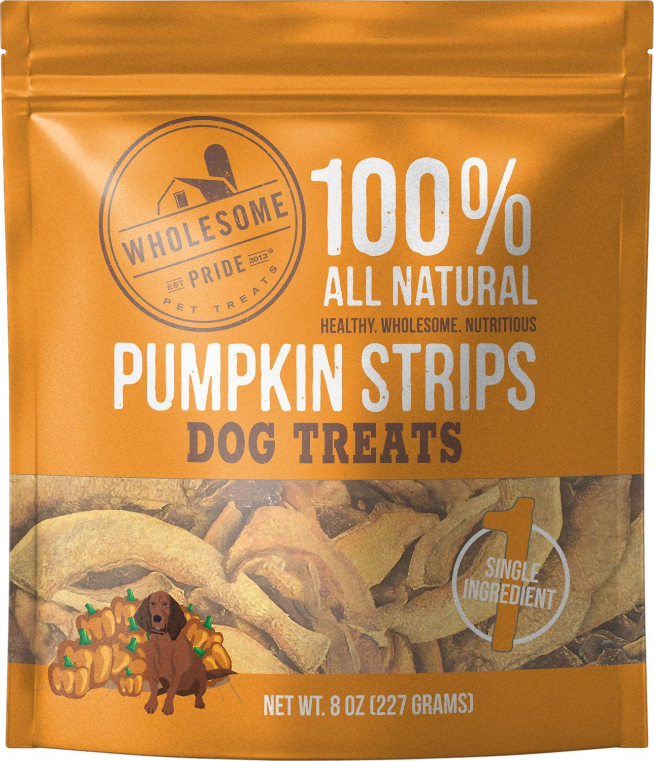 Pumpkin Strips Dog Treat 8oz