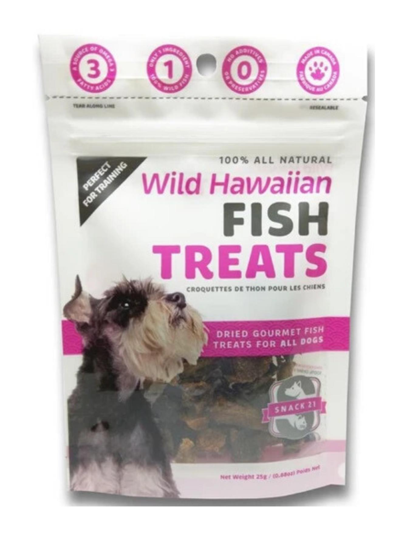 Wild Hawaiian Fish Treats (Tuna) for Dogs 25g