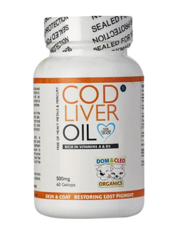 Dom & Cleo Cod Liver Oil Dog Supplements 500