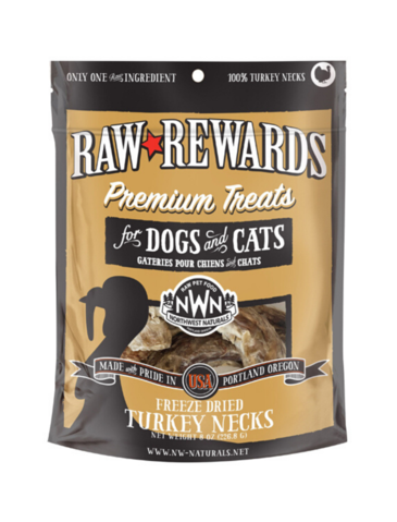 Raw Rewards Turkey Necks Treats 6oz