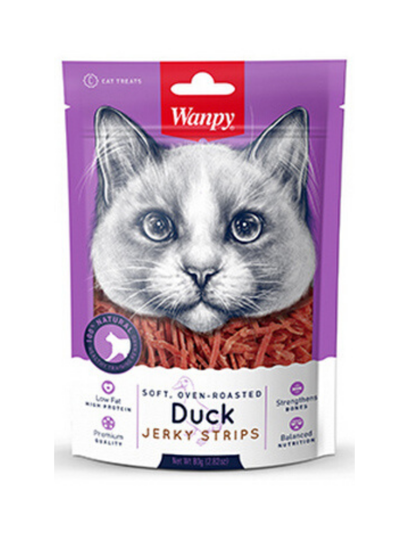 Oven Roasted Duck Strips Cat Treats