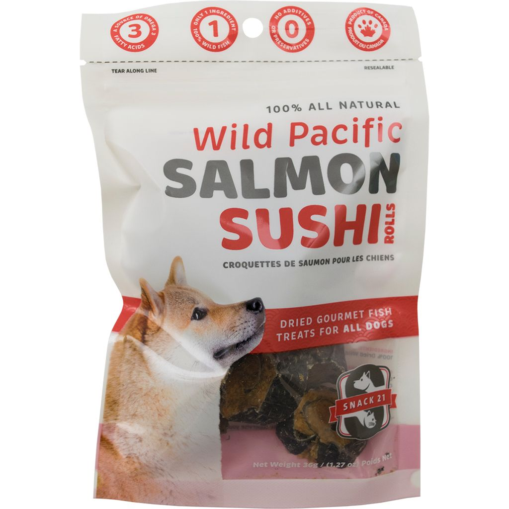 Wild Pacific Salmon Sushi Rolls for Dogs 36g