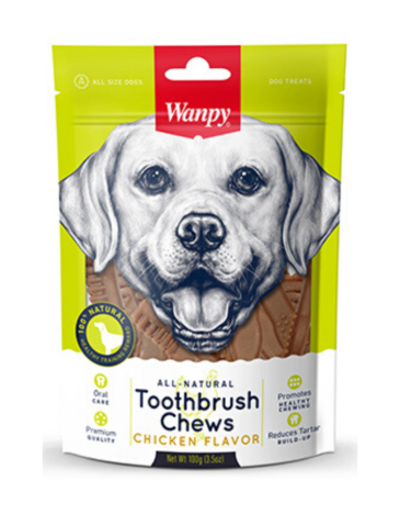 All Natural Toothbrush Chew Chicken For Dogs (2 Sizes)