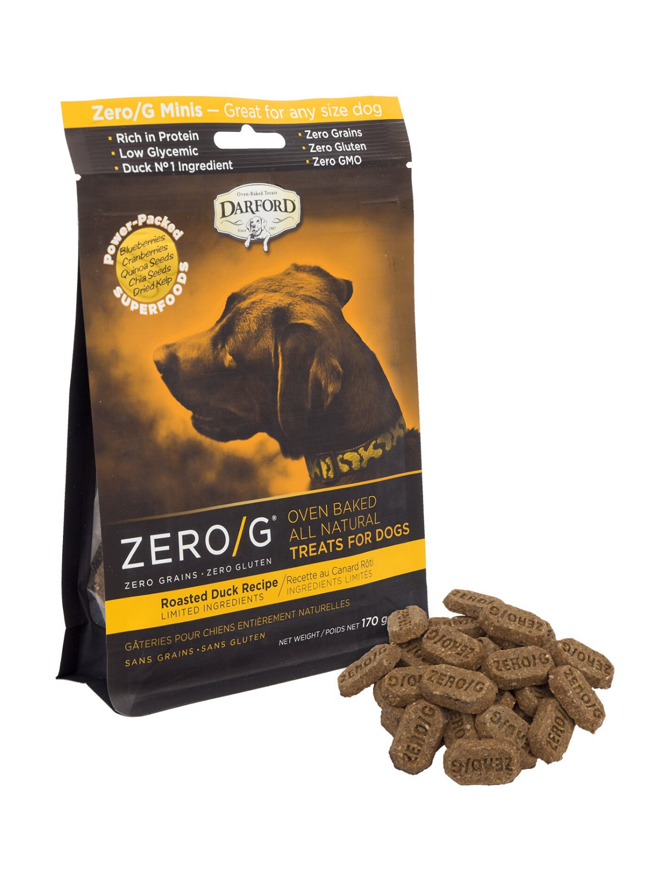 Zero/G Roasted Duck Dog Treat (2 Sizes)