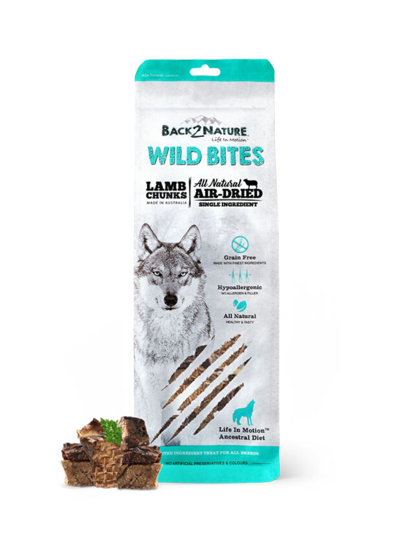 Wild Bites Lamb Chunks Air Dried Dog Treats - 150g