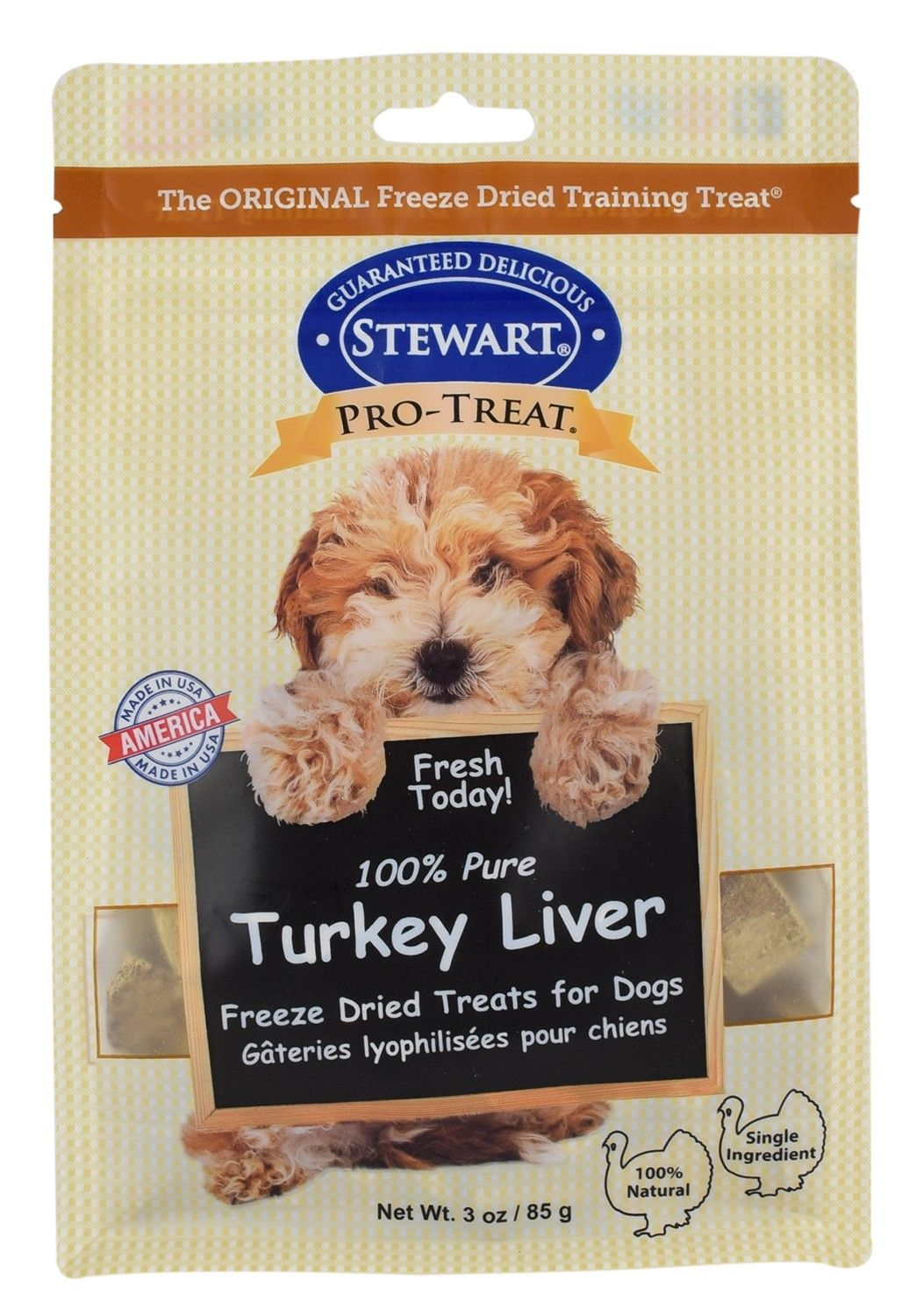 Pro-Treat Freeze Dried Turkey Liver Pouch Dog Treats 3oz