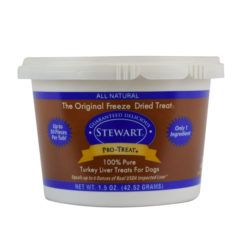 Pro-Treat Freeze Dried Turkey Liver Tub Dog Treat (2 Sizes)