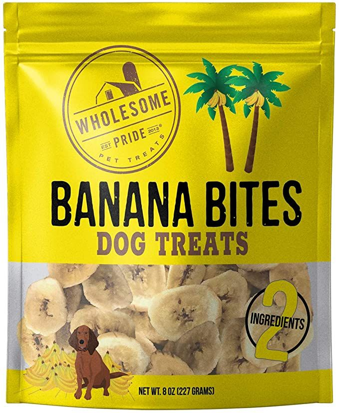 Banana Bites Dog Treat 8oz