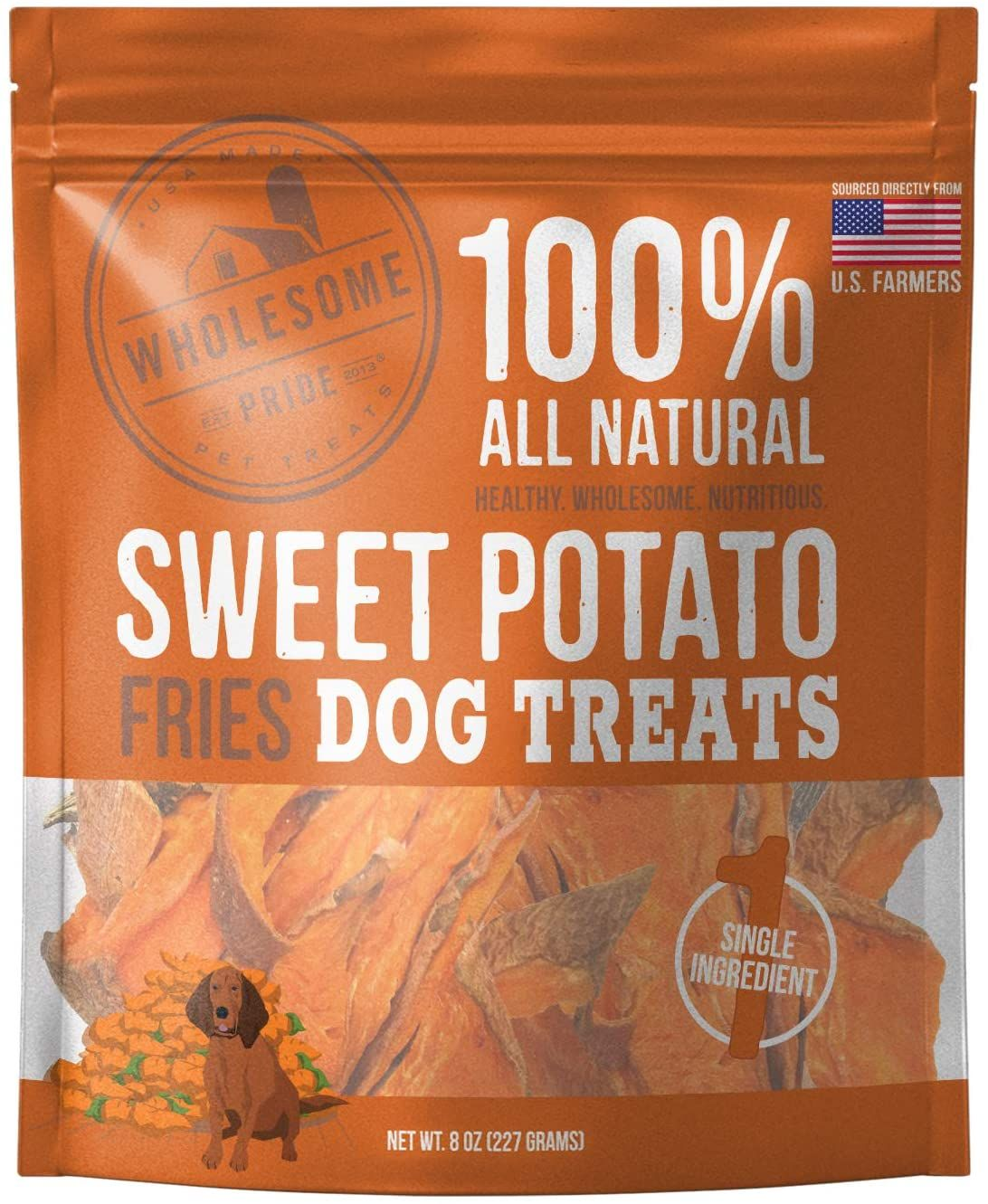 Sweet Potato Fries Dog Treat 8oz