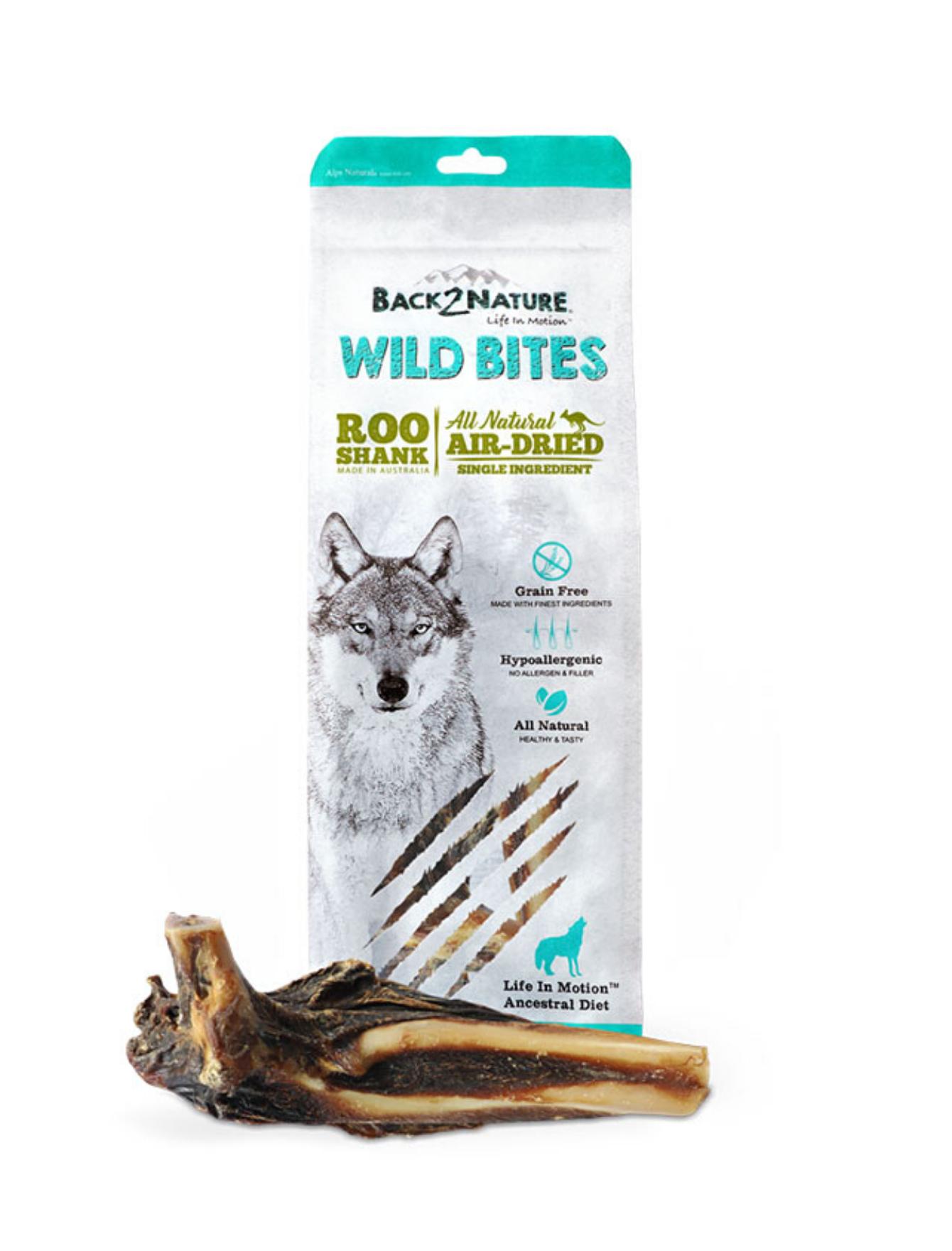 Wild Bites Roo Shank Air Dried Dog Treats - 2pcs