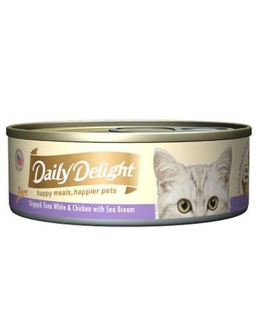 Pure Skipjack Tuna White & Chicken with Sea Bream Canned Cat Food