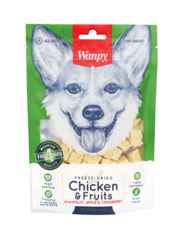 Freeze Dried Chicken and Fruits Dog Treats 40g