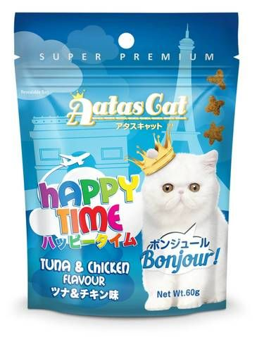 Happy Time Bonjour Tuna and Chicken Treat sample