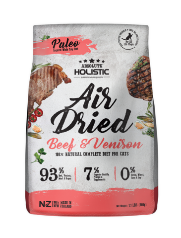 Absolute Holistic Air Dried Beef & Venison Cat Food
