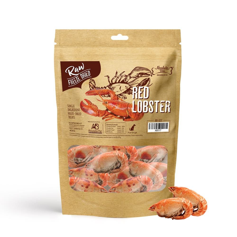 Freeze Dried Raw Red Lobster Dog Treats 40g
