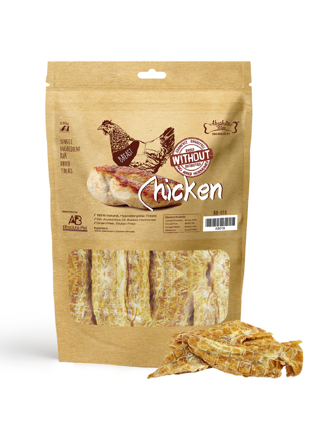 Air Dried Deboned Chicken Breast Dog and Cat Treats