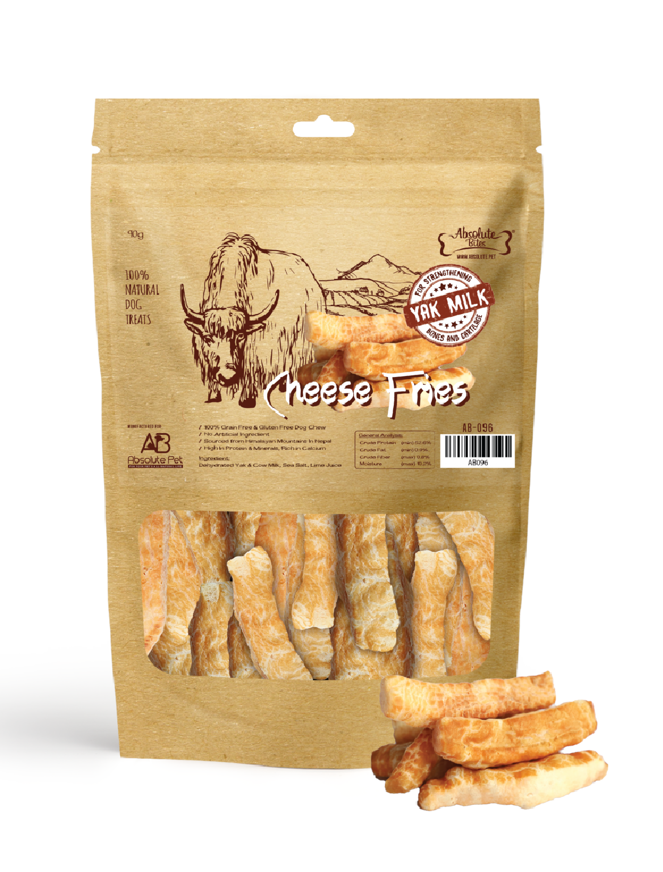 Himalayan Yak Cheese Fries Dog Treats (2 Sizes)