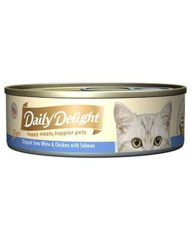 Pure Skipjack Tuna White & Chicken with Salmon Canned Cat Food
