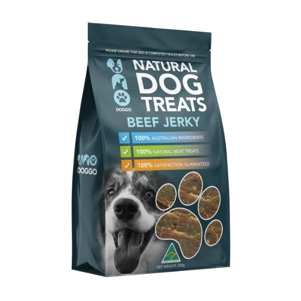 Beef Jerky Natural Dog Treats 250g