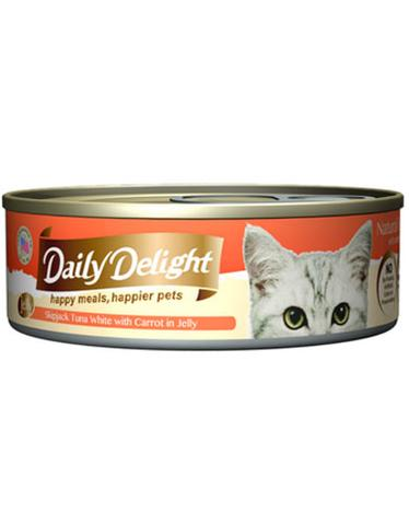 Jelly Skipjack Tuna White with Carrot Canned Cat Food