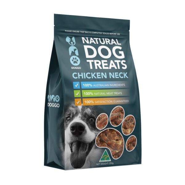 Chicken Neck Natural Dog Treats 250g