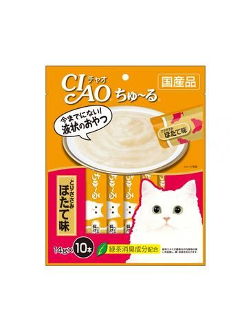 Chu Ru Chicken Fillet Scallop Flavour Cat Treats 14g (10pc/pack)