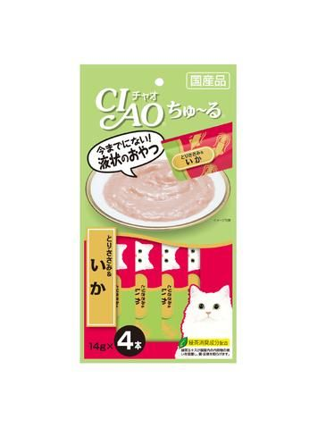 Chu Ru Chicken Fillet & Squid Cat Treats 14g (4pc/pack)