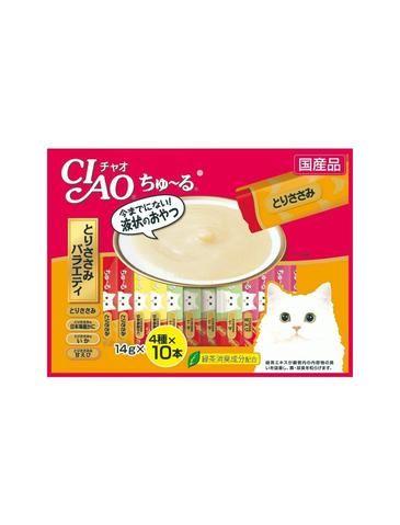 Chu Ru Chicken Jumbo Mix Cat Treat (40pc/pack)