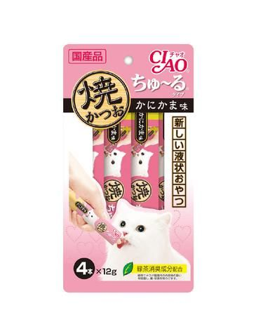 Ciao Chu Ru Grilled Tuna Crab Flavour Cat Treats 12g (4pc/pack)