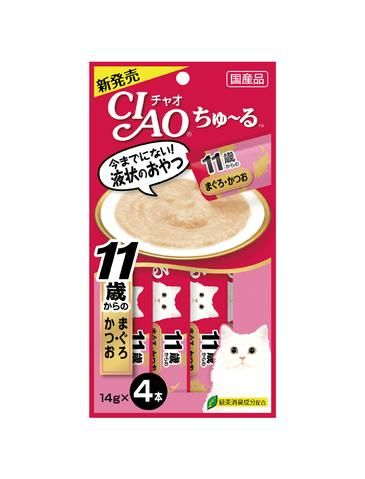 Chu Ru Tuna With Collagen Cat Treats 14g (4pc/pack)