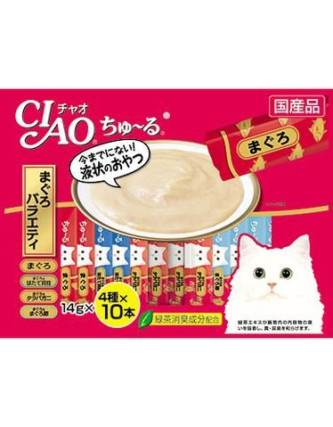 Chu Ru Tuna Scallop Jumbo Mix Cat Treat 14g (40pc/pack)