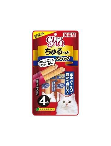 Churutto Maguro with Scallop Cat Treats 28g (4 pcs)