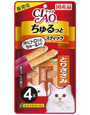 Churutto Torisasami Cat Treat 28g (4 pieces)