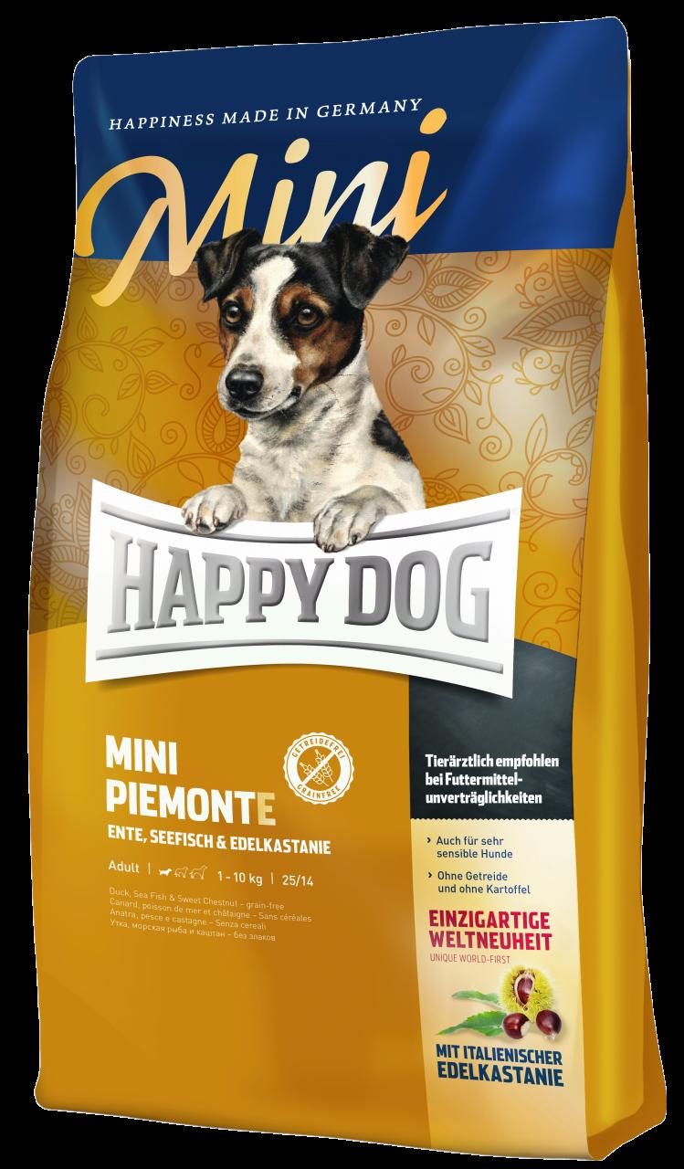 Happy Dog Supreme Mini Piemonte Duck, Seafish & Sweet Chestnut Dog Dry Food