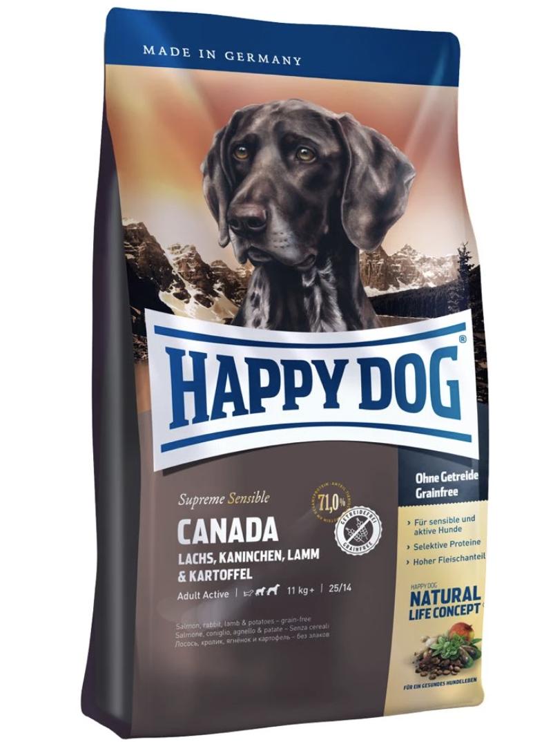 Happy Dog Supreme Sensible Canada Salmon, Rabbit, Lamb & Potato Dog Dry Food