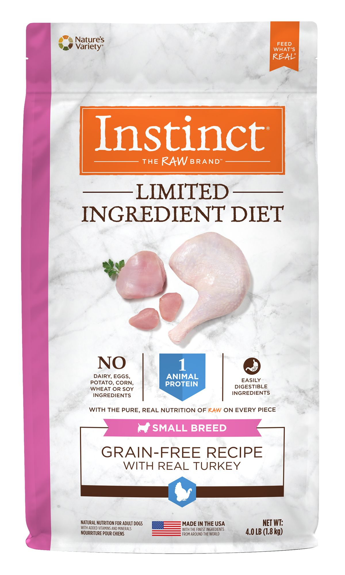 Limited Ingredient Diet Grain-Free Recipe with Real Turkey for Small Breed Dogs