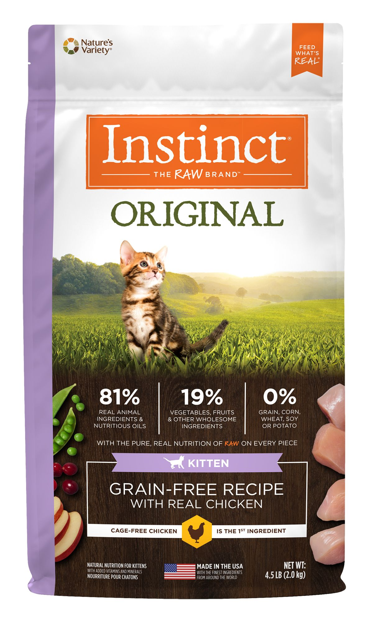 Instinct® Original Grain-Free Recipe with Real Chicken for Kittens