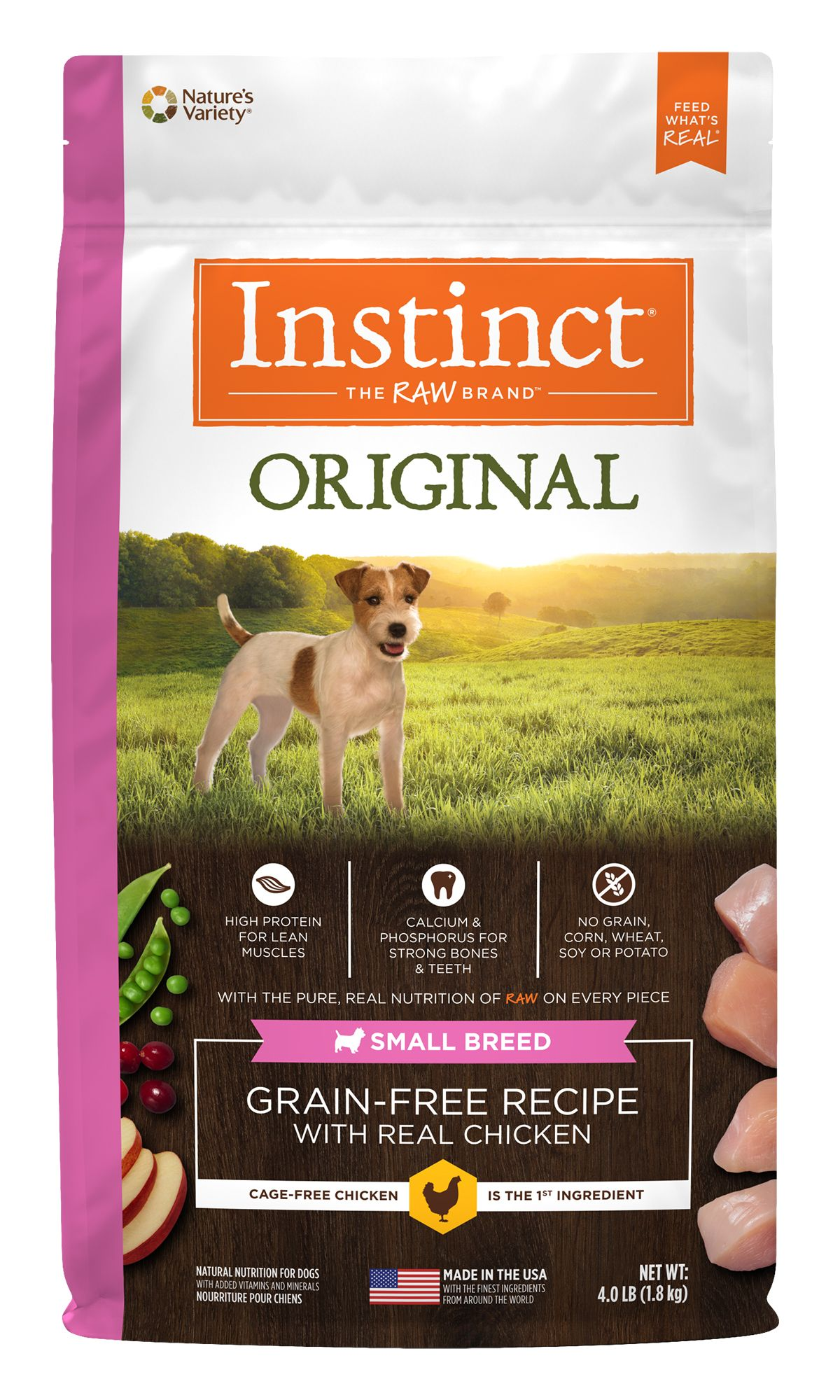 Original Grain-Free Recipe with Real Chicken for Small Breed Dogs