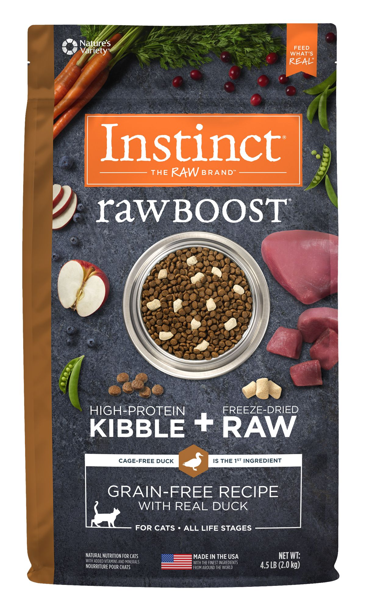 Instinct® Raw Boost® Grain-Free Recipe with Real Duck