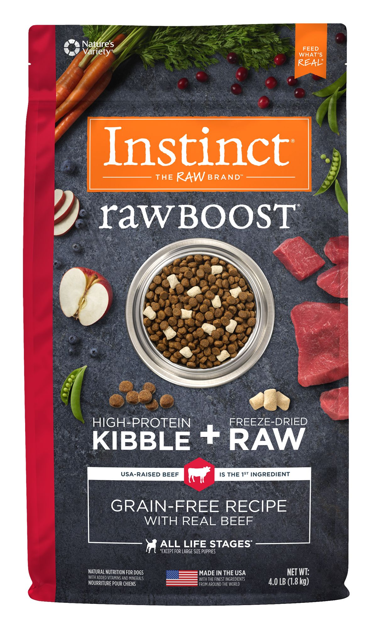 Raw Boost Grain-Free Recipe with Real Beef