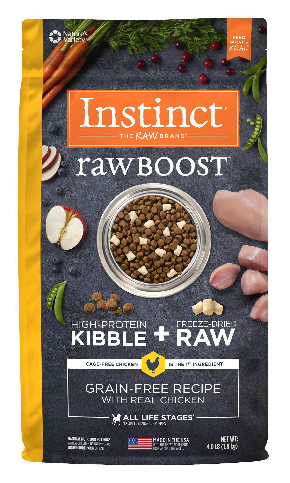 Raw Boost Grain-Free Recipe with Real Chicken