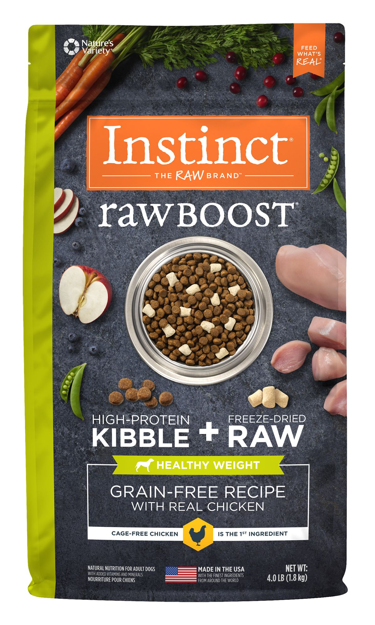 Raw Boost Grain-Free Recipe with Real Chicken For Healthy Weight