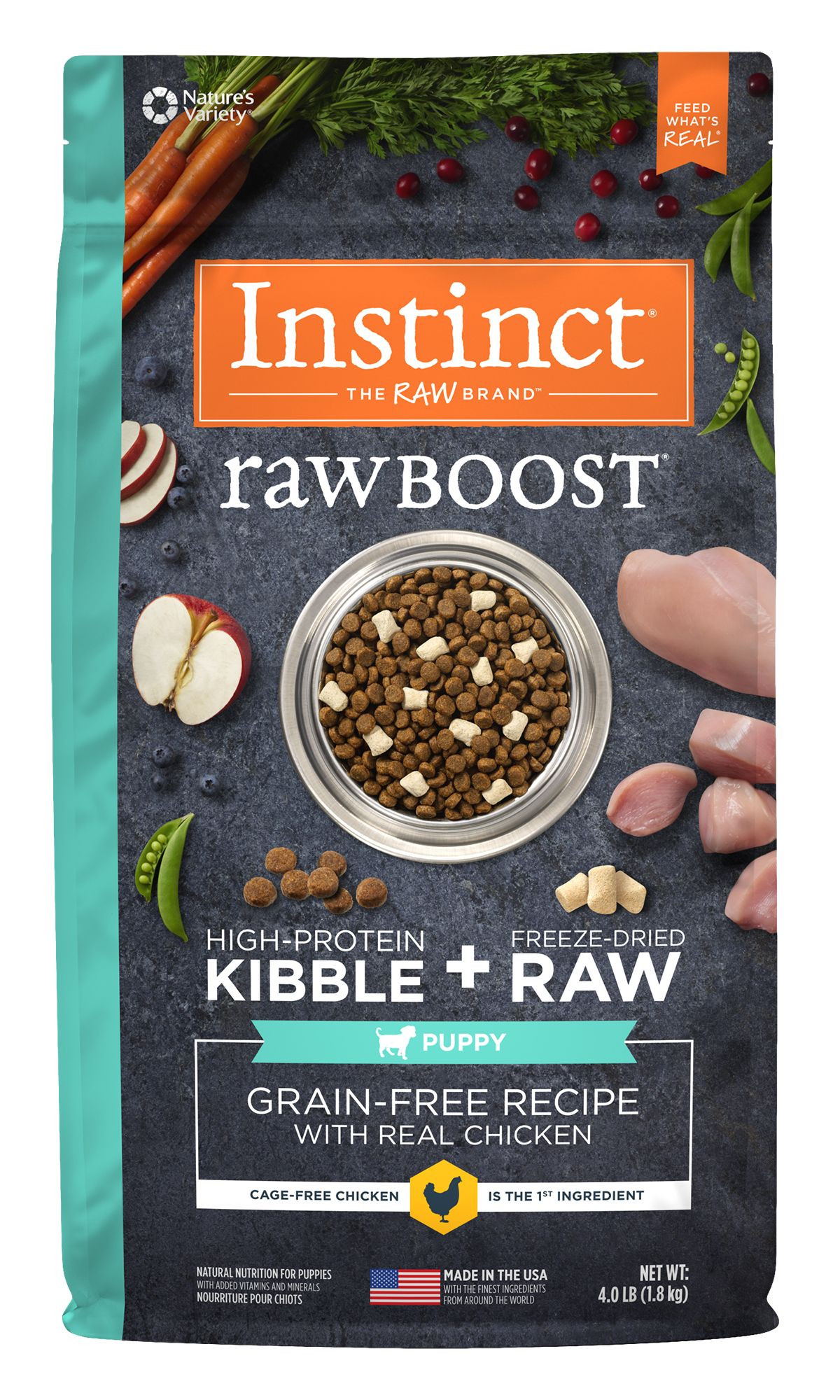 Raw Boost Grain-Free Recipe with Real Chicken for Puppies