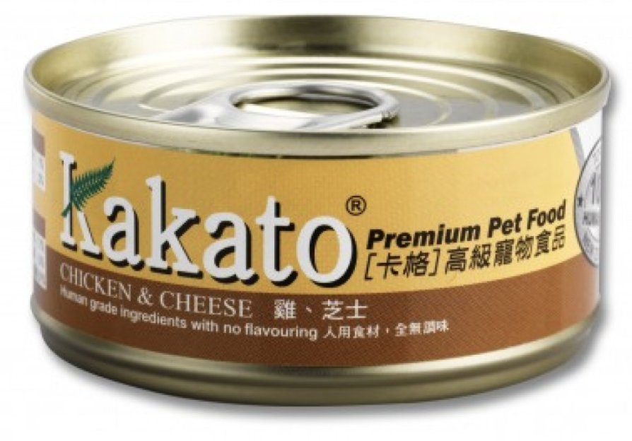 Kakato Chicken and Cheese Canned Pet Food