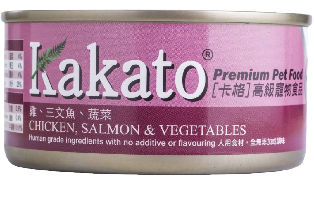 Kakato Chicken, Salmon and Vegetables Canned Dog & Cat Food