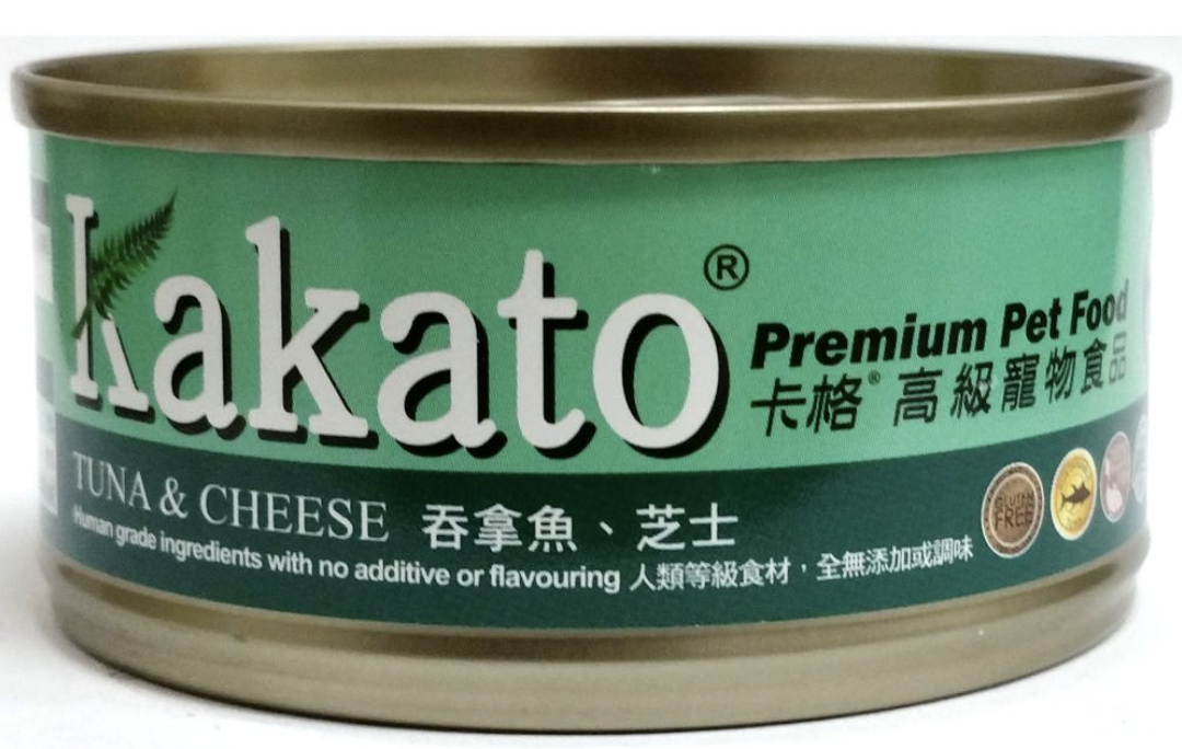 Kakato Tuna and Cheese Canned Pet Food