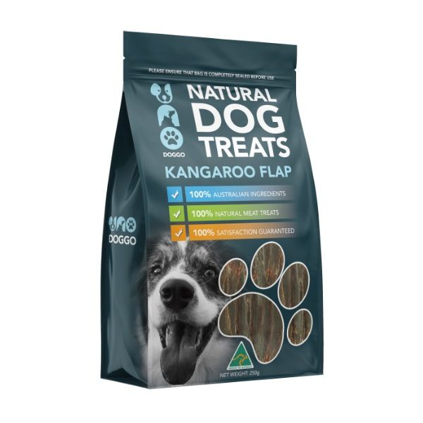 Kangaroo Flap Natural Dog Treats 250g