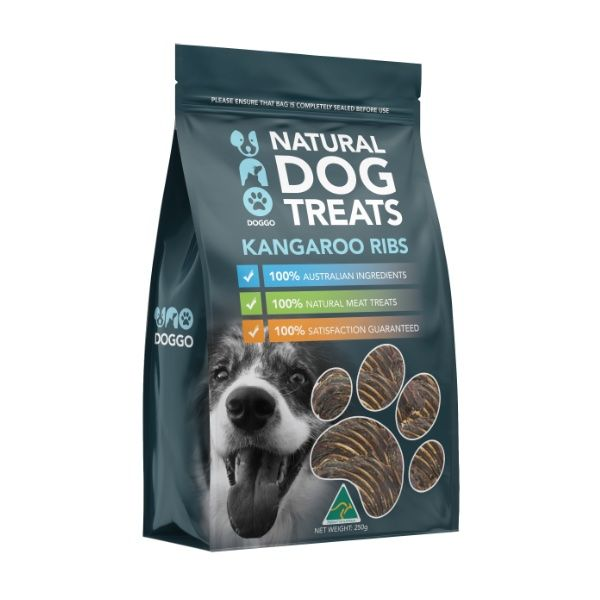 Kangaroo Ribs Natural Dog Treats 250g